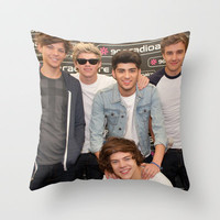 One Direction Backstage at Party In The Park 2012 Leeds Throw Pillow by Karl Wilson Photography