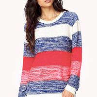 Thick Striped Knit Sweater