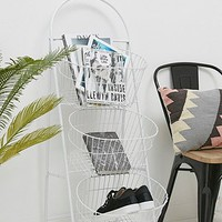Industrial 3 Tier White Shelf - Urban Outfitters
