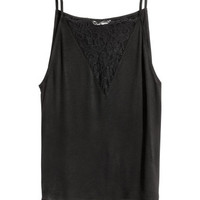 H&M Top with Lace Detail $12.99