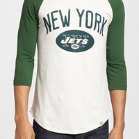 Men's Junk Food 'New York Jets - Red Zone' Raglan T-Shirt,