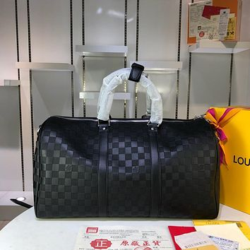 LV Louis Vuitton MEN'S LEATHER KEEPALL 45 TRAVEL BAG SHOULDER BAG
