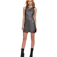 Sanctuary Clothing Metallic Sleeveless Dress - Black