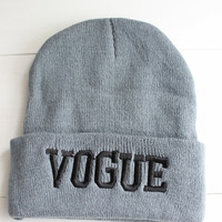 Vogue Gray Beanie