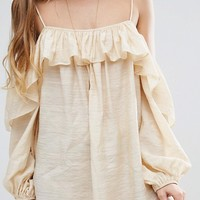 Honey Punch Cami Top With Frill Detail at asos.com
