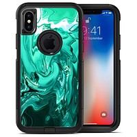 Bright Trendy Green Color Swirled - iPhone X OtterBox Case & Skin Kits