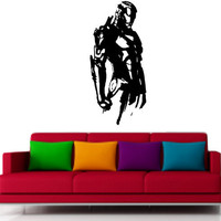 Iron Man Half Body Super Hero  Vinyl Decor - Wall Art - Wall Decoration - Wall Decal