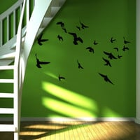 Flock of birds wall decal, wall sticker, decal, wall graphic , living room decal, bedroom decal, vinyl decal, vinyl graphic decal