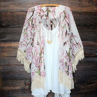 Vintage Boho Kaftan Cardigan Cover Up Dress Lace Kimono Beach Swimwear