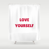 LOVE YOURSELF Shower Curtain by Love from Sophie