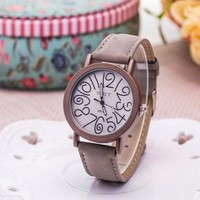 Awesome Gift Good Price Trendy New Arrival Great Deal Designer's Creative Couple Dial Hot Sale Stylish Ladies Watch [6542334339]