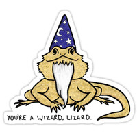 'Wizard Lizard' Sticker by Jacquelyne Drainville