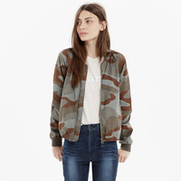 Bomber Jacket in Dusk Camo