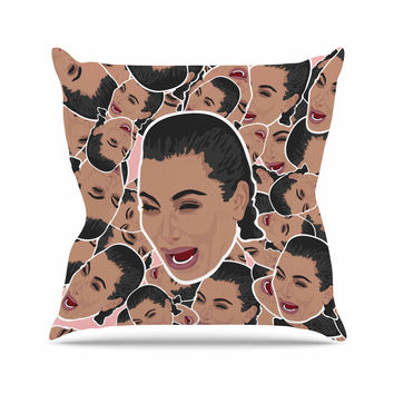 """Juan Paolo """"First World Problems"""" Celebrity Funny Outdoor Throw Pillow"""