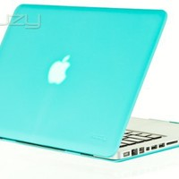 """Kuzy® - Teal / Turquoise Hot Blue 13inch Rubberized Hard Case Satin Cover for NEW Macbook PRO 13.3"""""""