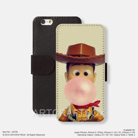 Toy Story Woody iPhone leather wallet cover iPhone case Samsung Galaxy case 799