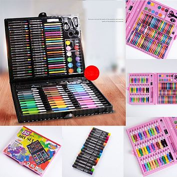 #H45 150PCs Chlidren Water-color Marker Pen Sets Kids Drawing Suppplies Water-color Pens