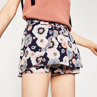 CAMISOLE SHORTS WITH PRINT