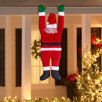 Holiday Time Christmas Decor Hanging Santa