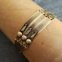 Distressed Bar Whale Bracelet