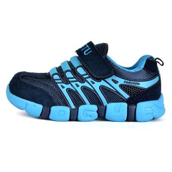 Luxury Brand Children's Shoes Casual Sneakers Boys Girls Sport Running Shoes School Kids Suede Leather Breathable Sneakers Blue