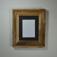 8x10 wide style rustic reclaimed wood frame handmade in the USA