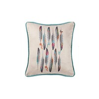 Cowgirl Kim Serape Feather Faux Suede Pillow