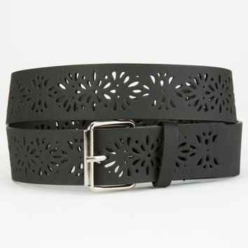 Perforated Belt Black Combo  In Sizes