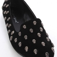 Black Faux Suede Skull Studded Casual Loafer Flats @ Amiclubwear Flats Shoes online store:Women's Casual Flats,Sexy Flats,Black Flats,White Flats,Women's Casual Shoes,Summer Shoes,Discount Flats,Cheap Flats,Spring Shoes,Cute Flats Shoes,Women's Flats Shoe