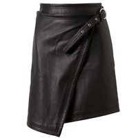 Browns fashion & designer clothes & clothing | BLK DNM | Leather Wrap Skirt