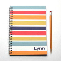 12 month 2015-2016 Planner, weekly planner, customize with your name, daily planner, Graduation Gift, contemporary style, SKU: pl navy pink