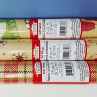 75 sqft Christmas Vintage Print Kraft Wrapping Paper, 3 30 in X 13.33 Ft. Rolls