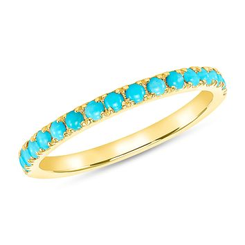 Rodeo Turquoise  Band in 14k Yellow Gold