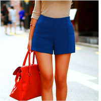 Candy Color High-Waist Shorts