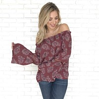 Undeniable Attraction Off Shoulder Top in Plum