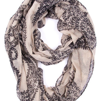 Grecian Infinity Scarf in Ivory