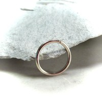 Daith Hoop Earring Solid Gold Endless Single