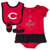 Infant Nike Cincinnati Reds MLB Fanatic Bib and Bootie Set