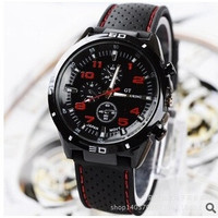 New 2015 High-end men's watch Men's fashion sports watches Car line strap silicone watches orange red yellow = 1753267972