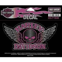 Harley-Davidson Winged Willie G Skull Decal, Medium Size Sticker DC715303