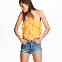 H&M Off-the-shoulder Ruffled Top $29.99