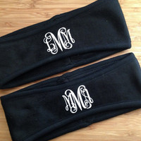 Ear Warmers!  BEST PRICE!  High quality! Monogrammed in over 30 colors!  Perfect for runners, athletes, competitions or just to be stylish!