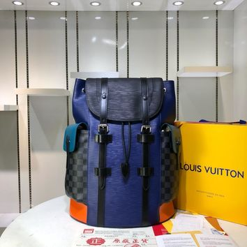 Kuyou Gb29726 Lv Louis Vuitto N41379 Damier Graphite Canvas Travel All Collections Christopher Pm Backpack 41 X 47 X 13 Cm