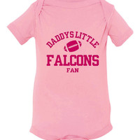 Daddys Little Falcons Fan Toddler And Youth T-Shirt Atlanta Fans Printed Tee for Kids Creepers & T-Shirts. Makes a Great Gift!!