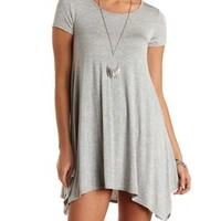 Jersey Knit Trapeze T-Shirt Dress by Charlotte Russe