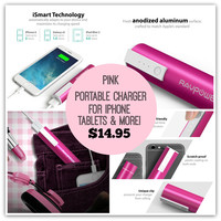 Portable Charger External Battery Pack Power Bank Samsung IPhone Tablets & More