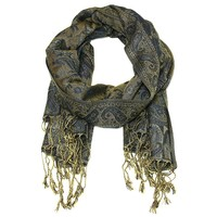 Pashmina Wrap Scarf - Blue and Gold