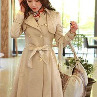 beige lace 2013 elegant new style trench coat clearance s080 --- search for me in Marketplace