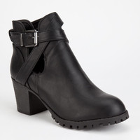 Bamboo Baxter Womens Booties Black  In Sizes