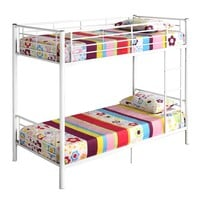 Twin Metal Bunk Bed - White